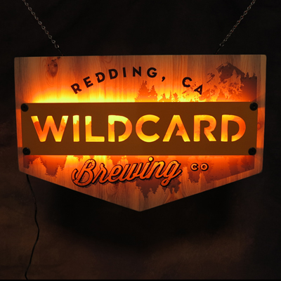 Wildcard Brewing co LED Sign