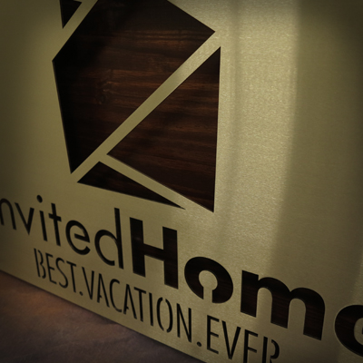 Invited Home Hanging Sign