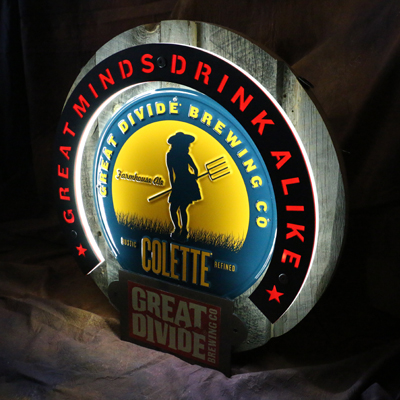 Great Divide Brewing Co LED Sign